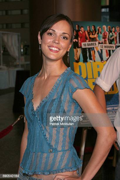 Erin Cahill attends Dirty Deeds World Premiere at Directors Guild of America on August 23 2005 in Hollywood CA