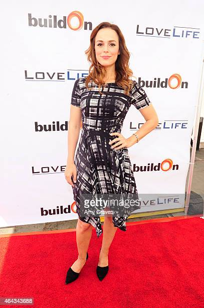 Erin Cahill attends LoveLife Fundraiser to support buildOn hosted by Travis Van Winkle at Siren Studios on February 15 2015 in Hollywood California