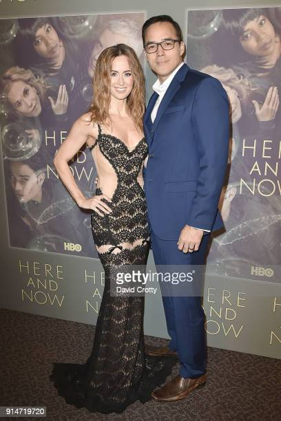 Erin Carufel and Scott Connors attend the Premiere Of HBO's 'Here And Now' Arrivals at Directors Guild Of America on February 5 2018 in Los Angeles...