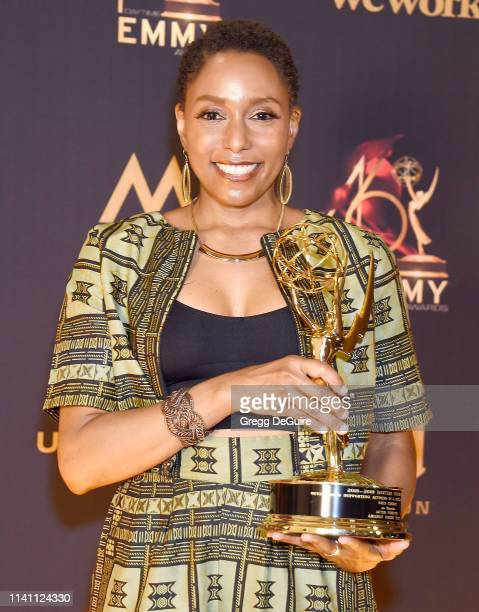 Erin Cherry winner of the award for Outstanding Supporting Actress in a Digital Daytime Drama Series at the 46th Annual Daytime Creative Arts Emmy...