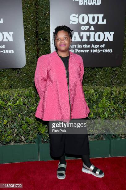 Erin Christovale attends The Broad Museum celebration for the opening of Soul Of A Nation Art in the Age of Black Power 19631983 Art Exhibition at...