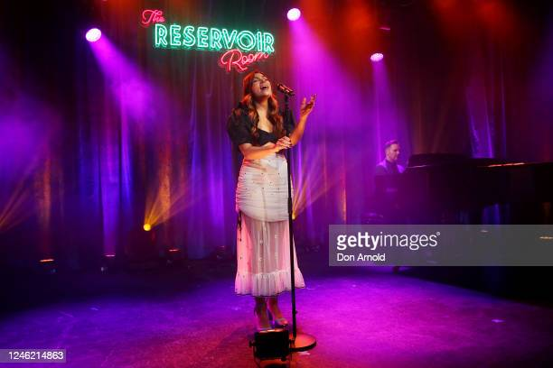 Erin Clare performs during recording of live show on June 05 2020 in Sydney Australia The Reservoir Room is livestream performances of theatre live...