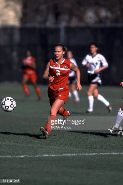 Erin Croasmun passes the ball down field during the Divison 3 Women's Soccer Championships held at Roy Rike Field on the campus of Ohio Wesleyan...