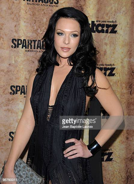 Erin Cummings arrives at the Starz original TV series 'Spartacus Blood and Sand' at Billy Wilder Theater on January 14 2010 in Westwood Village...