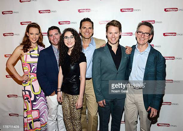Erin Cummings Chad Beguelin Alexis Molnar Paul Anthony Stewart Randy Harrison and Mark Lamos attend 'Harbor' opening night at 59E59 Theaters on...