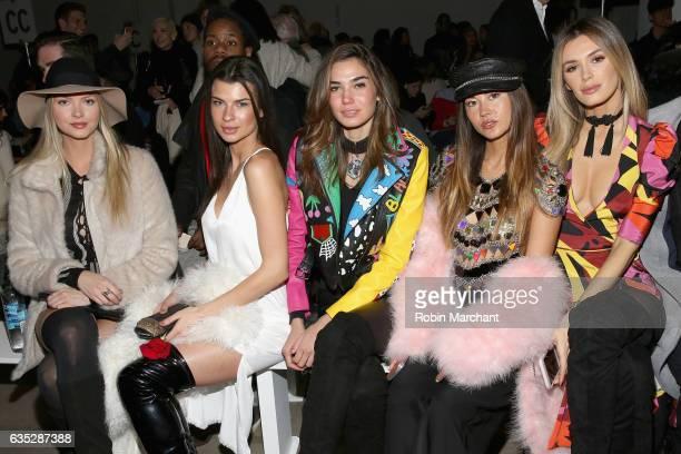 Erin Cummings Destiny DeLisio Rachel Vallori Ana Tanaka and Tika Camaj attend the Naeem Khan collection during New York Fashion Week The Shows at...
