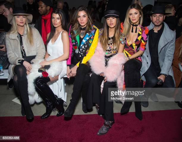 Erin Cummings Destiny DeLisio Rachel Vallori Ana Tanaka and Tika Camaj attend the Naeem Khan fashion show during February 2017 New York Fashion Week...