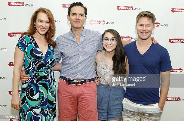 Erin Cummings Paul Anthony Stewart Alexis Molnar and Randy Harrison attend the 'Harbor' Cast Photo Call at Primary Stages Rehearsal Studio on July 11...