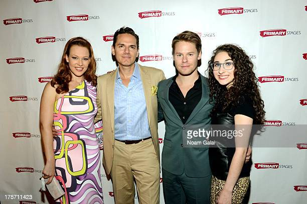 Erin Cummings Paul Anthony Stewart Randy Harrison and Alexis Molnar attend 'Harbor' opening night at 59E59 Theaters on August 6 2013 in New York City