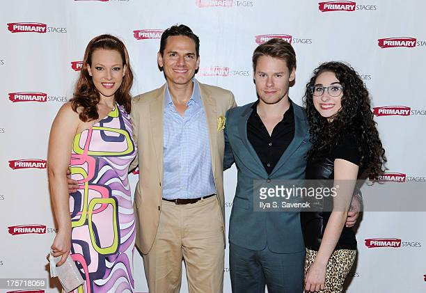 Erin Cummings Paul Anthony Stewart Randy Harrison and Alexis Molnar attend 'Harbor' Opening Night After Party at Park Avenue Armory on August 6 2013...