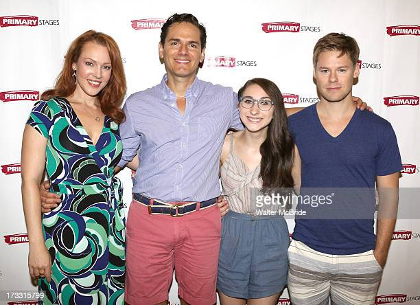 Erin Cummings Paul AnthonyStewart Alexis Molnar and Randy Harrison attend the 'Harbor' cast photo call at Primary Stages Rehearsal Studio on July 11...