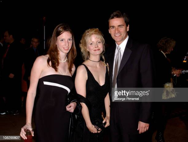 Erin Cunningham, Leah Pinson and Peter Keleghan during 2003 18th Annual Gemini Awards - Pre Party at Metro Toronto Convention Centre in Toronto,...