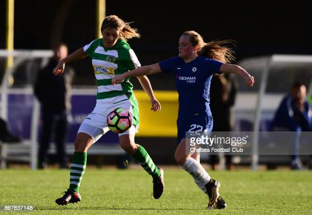 Erin Cuthbert of Chelsea during a WSL Match between Chelsea Ladies and Yeovil Ladies at The Cherry Red Records Stadium on October 15 2017 in Kingston...