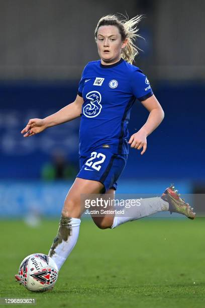 Erin Cuthbert of Chelsea during the Barclays FA Women's Super League match between Chelsea Women and Manchester United Women at Kingsmeadow on...