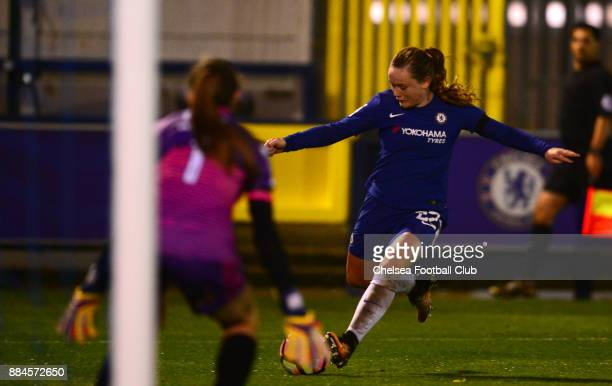 Erin Cuthbert of Chelsea during the Continental Tyres Cup Match between Chelsea Ladies and Yeovil Ladies at The Cherry Red Records Stadium on...