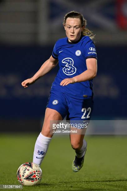 Erin Cuthbert of Chelsea during the Vitality Women's FA Cup Fourth Round match between Chelsea v London City Lionesses at Kingsmeadow on April 16,...
