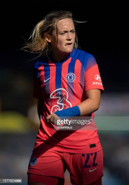 Erin Cuthbert of Chelsea during the Womens FA Cup Quarter Final match between Everton FC and Chelsea FC at Goodison Park on September 27 2020 in...