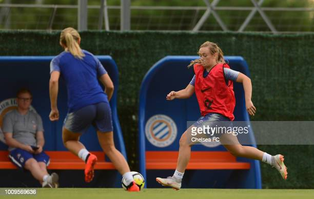 Erin Cuthbert of Chelsea during their training session on August 01 2018 in Montpellier France
