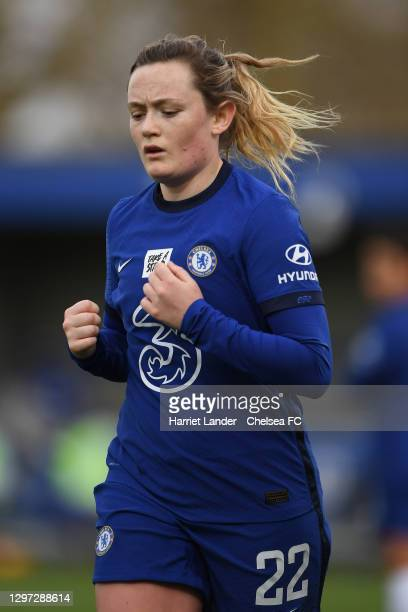 Erin Cuthbert of Chelsea runs on during the Barclays FA Women's Super League match between Chelsea Women and Manchester United Women at Kingsmeadow...