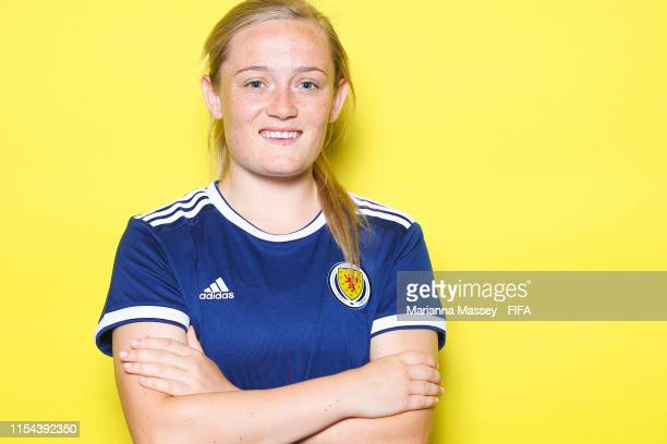 Erin Cuthbert of Scotland poses for a portrait during the official FIFA Women's World Cup 2019 portrait session at AC Hotel by Marriott Nice on June...