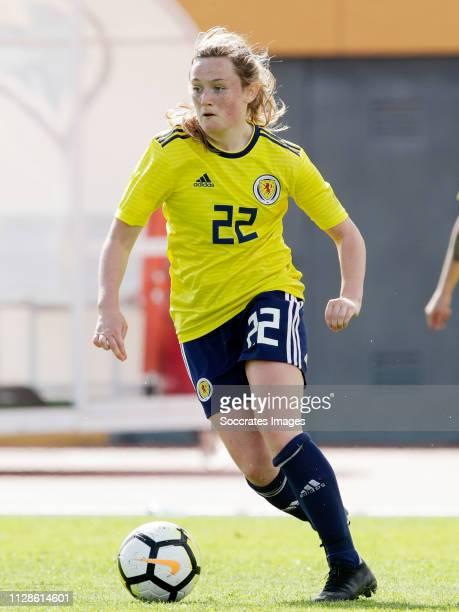 Erin Cuthbert of Scotland Women during the Algarve Cup Women match between Iceland v Scotland at the Estadio Municipal da Bela Vista on March 4 2019...