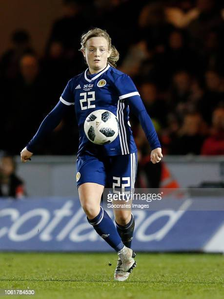 Erin Cuthbert of Scotland Women during the International Friendly Women match between Scotland v USA at the The Simply Digital Arena on November 13...