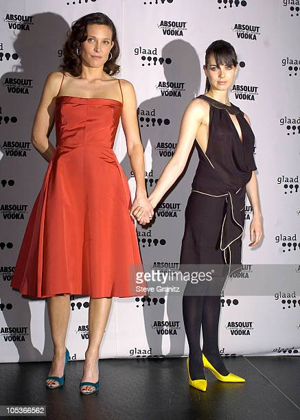 Erin Daniels and Mia Kirshner during The 15th GLAAD Media Awards Los Angeles Press Room at The Kodak Theatre in Hollywood California United States