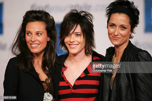 Erin Daniels Kate Moennig and Alexandra Hedison during 2006 General Motors Annual ten Celebrity Fashion Show Arrivals at 1540 Vine Street in...