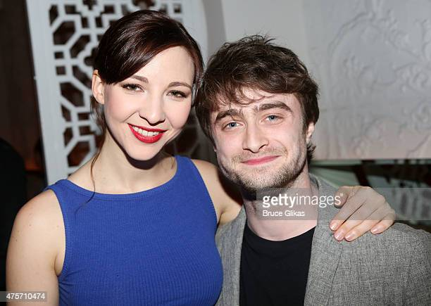 Erin Darke and boyfriend Daniel Radcliffe attends The Spoils Opening Night Party at Qi Bangkok Eatery on June 2 2015 in New York City