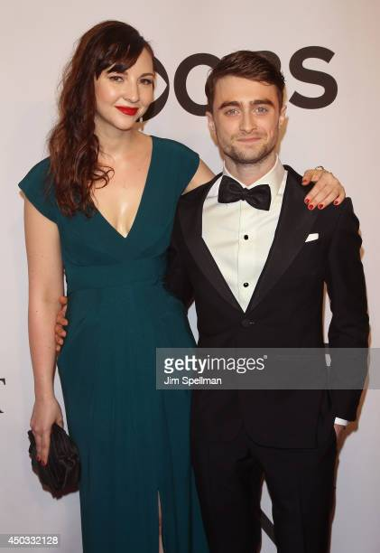 Erin Darke and Daniel Radcliffe attend American Theatre Wing's 68th Annual Tony Awards at Radio City Music Hall on June 8 2014 in New York City