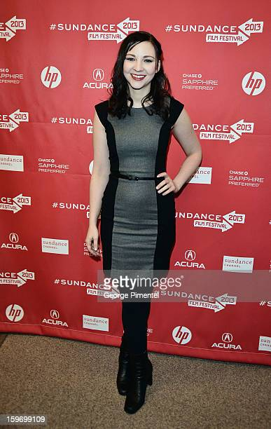 Erin Darke attends the Kill Your Darlings Premiere during the 2013 Sundance Film Festival at Eccles Center Theatre on January 18 2013 in Park City...