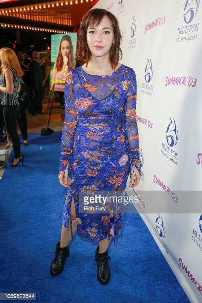 """Erin Darke attends the premiere of Blue Fox Entertainment's """"Summer '03"""" at the Vista Theatre on September 24, 2018 in Los Angeles, California."""