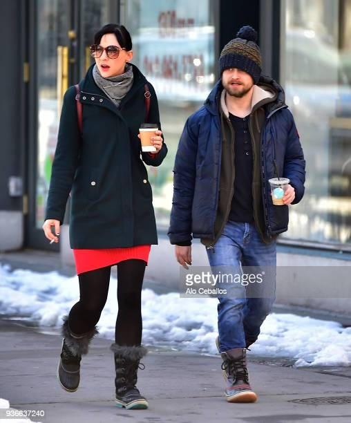 Erin Darke Daniel Radcliffe are seen in Soho on March 22 2018 in New York City