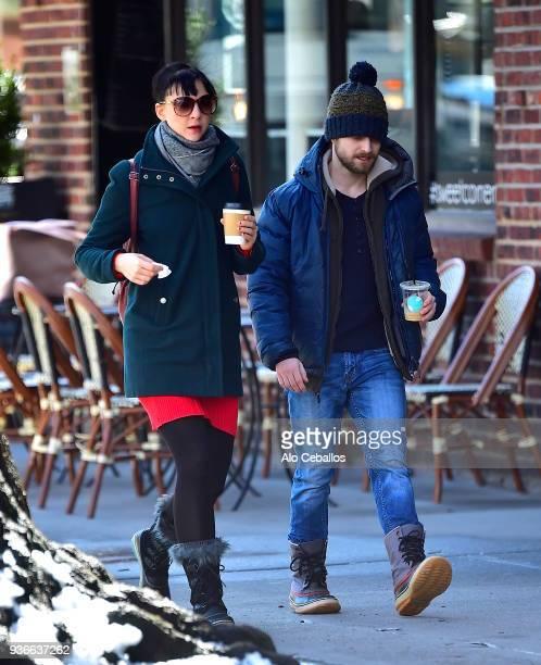 Erin Darke Daniel Radcliffe are seen in Soho on March 22 2018 in New York City