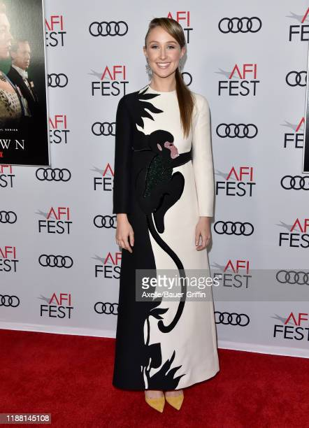 """Erin Doherty attends """"The Crown"""" Premiere at AFI FEST 2019 presented by Audi at TCL Chinese Theatre on November 16, 2019 in Hollywood, California."""