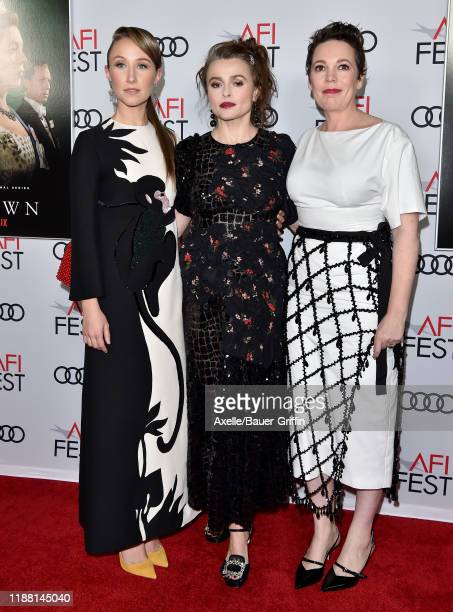 """Erin Doherty, Helena Bonham Carter and Olivia Colman attend """"The Crown"""" Premiere at AFI FEST 2019 presented by Audi at TCL Chinese Theatre on..."""