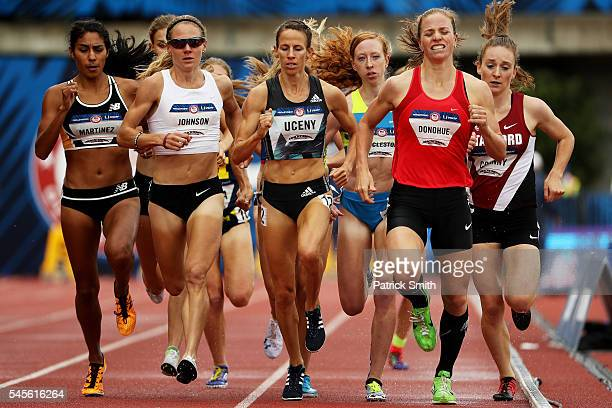 Erin Donohue competes in the Women's 1500 Meter SemiFinal during the 2016 US Olympic Track Field Team Trials at Hayward Field on July 8 2016 in...