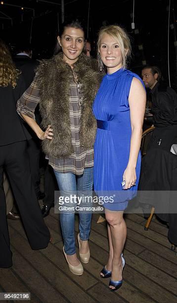 Erin Elmore and Heidi Hamels attend the Hamels Foundation fundraiser at Moshulu Penn�s Landing on November 12 2009 in Philadelphia Pennsylvania