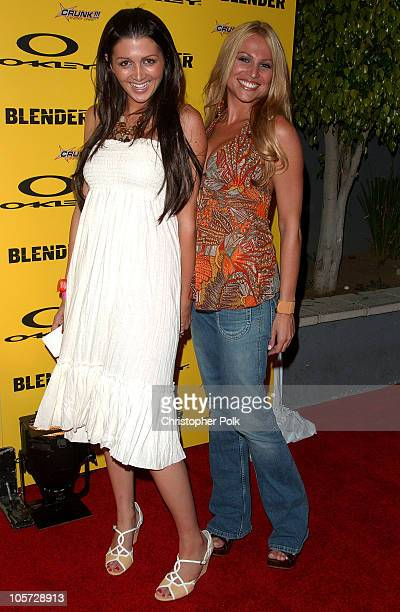 Erin Elmore and Regina Mascaro during Blender/Oakley X Games Party Arrivals at The Key Club in Los Angeles California United States
