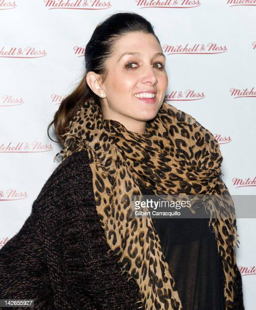 Erin Elmore attends the Spring 2012 Collection launch at the Mitchell Ness Flagship Store on April 10 2012 in Philadelphia Pennsylvania