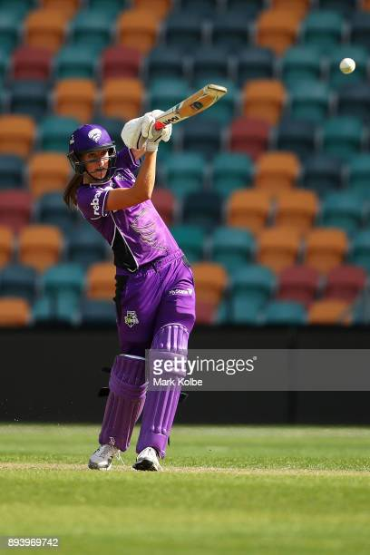 Erin Fazackerley of the Hurricanes bats during the Women's Big Bash League match between the Hobart Hurricanes and the Sydney Sixers at Blundstone...