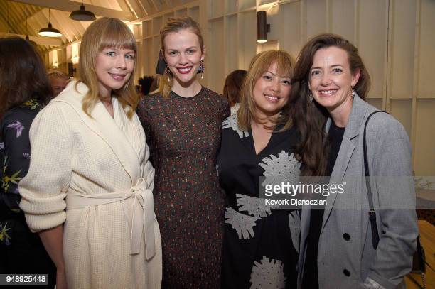 Erin Fetherston Brooklyn Decker Kulap Vilaysack and Stephanie Allynne attend the Jane Club Launch Party on April 19 2018 in Los Angeles California