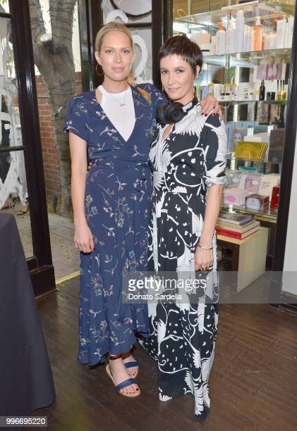 Erin Foster and Founder of VIOLET GREY Cassandra Grey attend Beats by Dre for VIOLET GREY Party on July 11 2018 in Los Angeles California