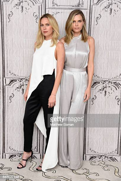 Erin Foster and Sara Foster attend AOL Build Presents Erin Foster and Sara Foster from VH1's Barely Famous at AOL Studios in New York on June 29 2016...