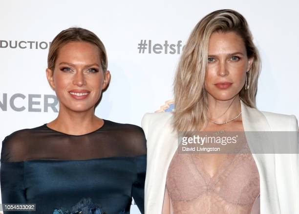 Erin Foster and Sara Foster attend FCancer's 1st Annual Barbara Berlanti Heroes Gala at Warner Bros. Studios on October 13, 2018 in Burbank,...