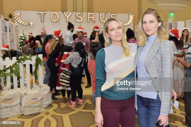 Erin Foster and Sara Foster attend The Baby2Baby Holiday Party presented by Toys'R'Us at Montage Beverly Hills at Montage Beverly Hills on December...