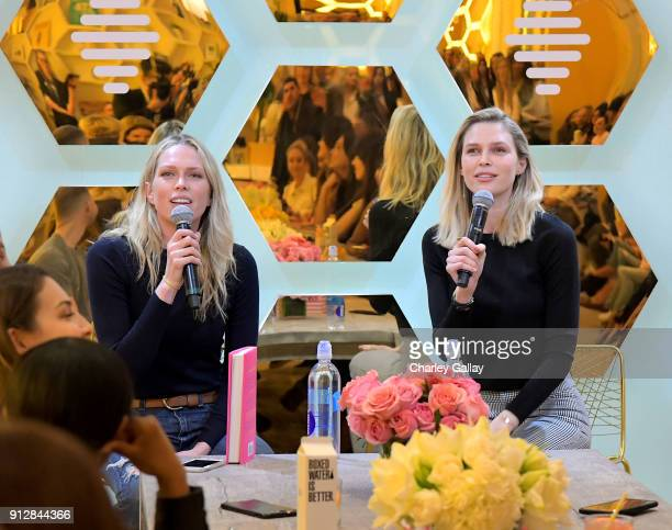 Erin Foster and Sara Foster speak during Bumble Hive LA debut with Gwyneth Paltrow and friends on January 31, 2018 in Los Angeles, California.