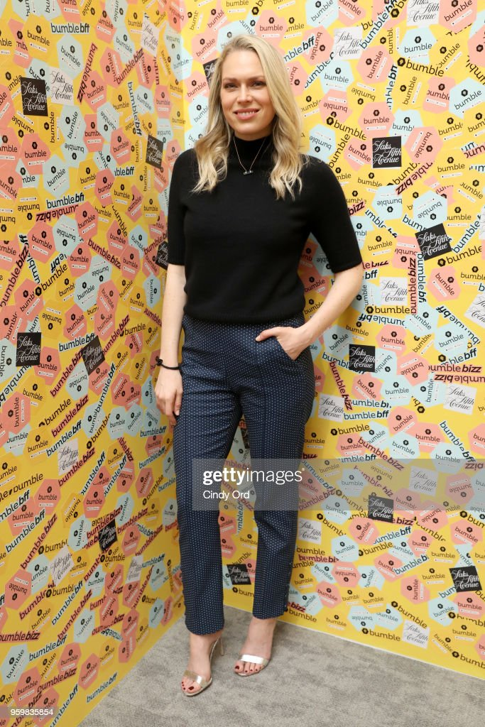 Erin Foster attends a panel discussion on power dressing with Bumble's Sara & Erin Foster and designer Andrea Lieberman hosted by Saks at Saks Fifth Avenue on May 18, 2018 in New York City.