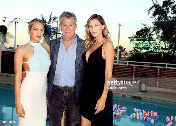Erin Foster David Foster and Sara Foster attend Amazon Prime Summer Soiree hosted by Sara Foster and Erin Foster at the Sunset Towers on July 16 2015...