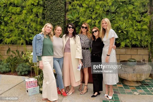 Erin Foster, Jennifer Meyer, Estee Stanley, Sara Riff, Jamie Mizrahi and Gwyneth Paltrow attend Gwyneth Paltrow hosts a Goop morning in celebration...